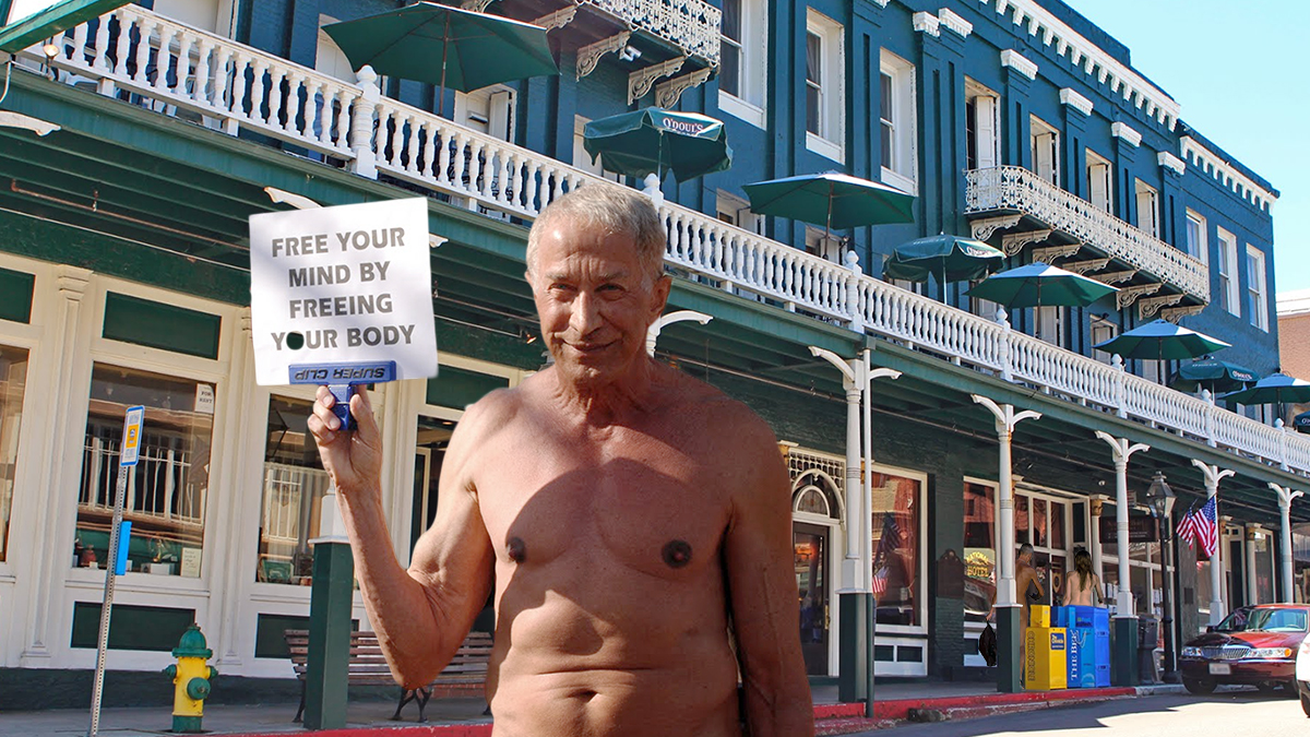 Nevada City becomes the nation's first municipality to decriminalize nudity.