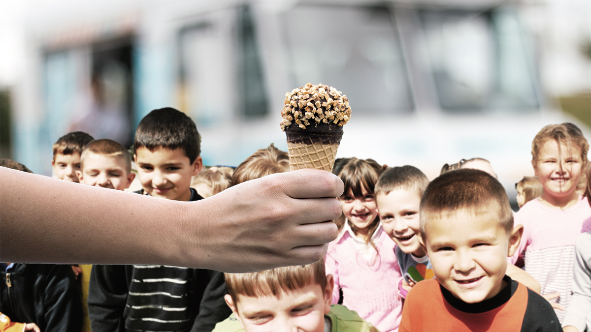 What started out as a fun idea by area father Bryan Kranstein, turned into a near ice cream riot at an area school.