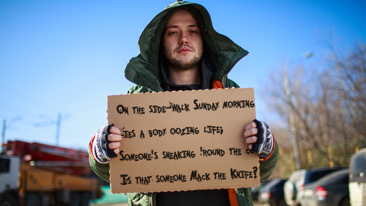 Nevada City Homeless Required to Sing Mack the Knife to Receive Benefits
