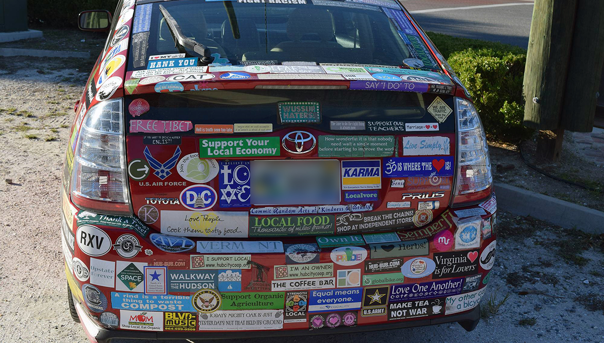 Area Man with 17 Bumper Stickers Can't Fit One More