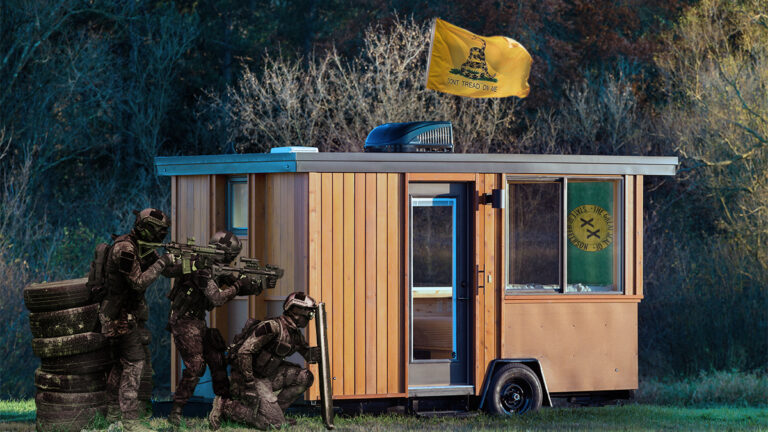 Area Man Surrenders After Barricading Himself Inside Tiny Home