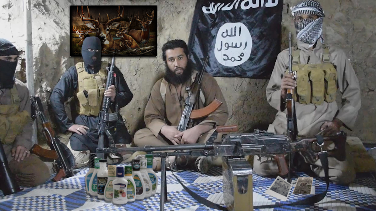 An ISIS propaganda image taken inside the Nevada County cave