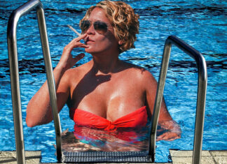 Area Woman Christine Wayfair is now in hot water with the Police following her protest at a local pool.