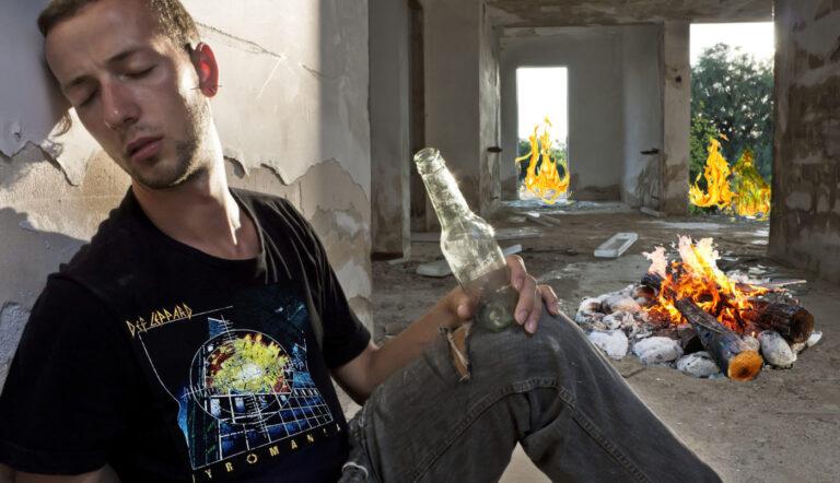 Homeless Man Loves Pyromania