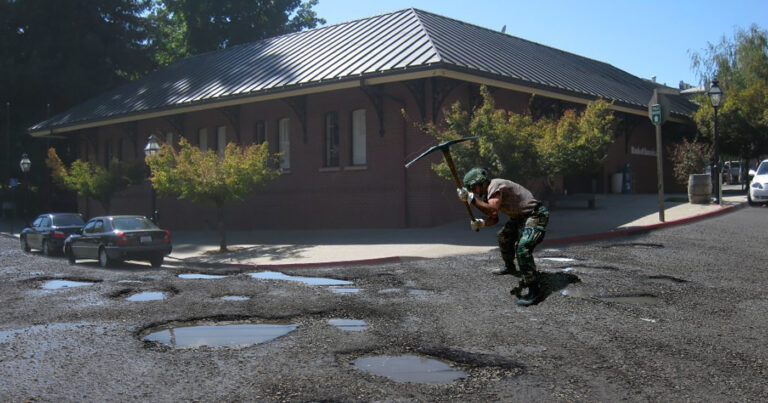 Nevada City Says Potholes Part of 'Old Time Charm'