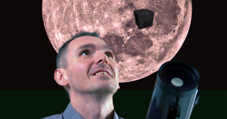 Local Amateur Astronomer Spots Giant Black Cube Near Moon