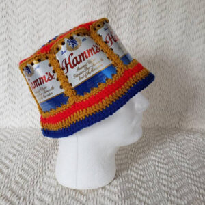 macrame beer can hat