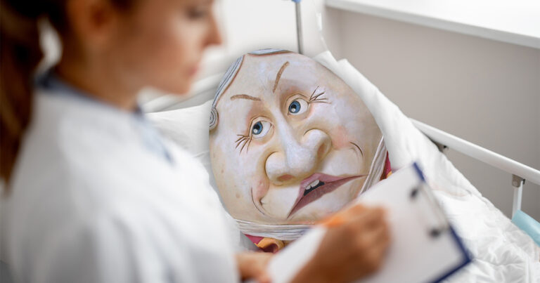 Humpty Dumpty In Hospital ICU After Infecting Thousands